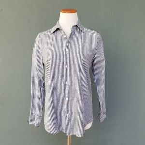 Brandy Melville Isabela Striped Button Down Shirt